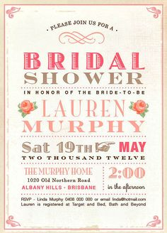 Shower Ideas for Bridal Shower Invitations Quelles astuces pour organiser votre mariage sur http://yesidomariage.com