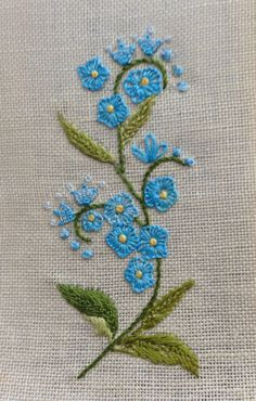 embroidery for gift card