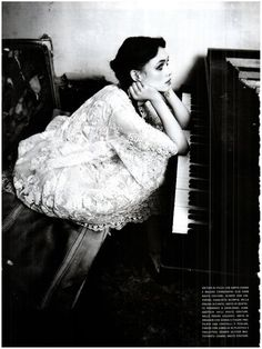 Àstrid Bergès-Frisbey photographed by Ellen von Unwerth for Vogue Italia, March 2012