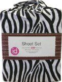 3pc Zebra Stripes Animal Print Bedding Twin Sheet Set - #bedding #beddingdeals #beddingproducts #beddingsets #beddingaccessories-     Product Description:    Twin/single size flat sheet, fitted sheet, pillowcase. ... CONTENTS: One twin flat bed sheet