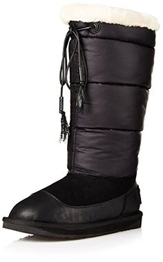 Australia Luxe Collective Womens Earth Nylon Snow Boot Black 38 M EU7 M US * Read more reviews of the product by visiting the link on the image.