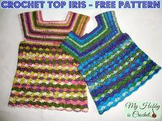 Crochet Top Iris, Child Size 3-5 Years - Free Crochet Pattern/ My Hobby is Crochet