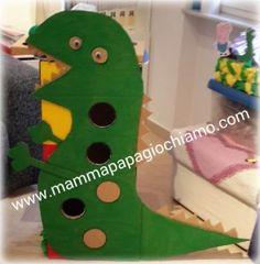 Il Drago di Peppa Pig si trasforma in un drago mangione di palline. Realizzato con il cartone. #Peppa Pig; #Peppa Pig crafts; #mammapapagiochiamo