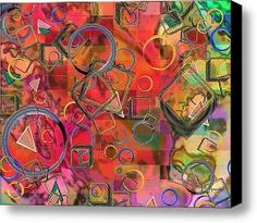 Rings And Things Stretched Canvas Print \  Canvas Art By Paintings By Gretzky