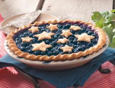 A star-studded blueberry pie!