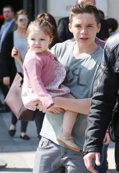 Brooklyn and Harper Beckham