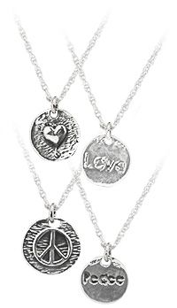 29c7c35b0f45 Textured Sterling Sentiment Necklace at The Veterans Site Veterans Site