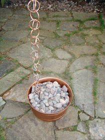 Reverberations of Echoes: Making a copper rain chain......