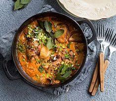 Mehevä kanapata kruunaa talvisen aterian. Se muhii valmiiksi uunissa itsekseen. Egg Recipes, Asian Recipes, Gluten Free Recipes, Cooking Recipes, Healthy Recipes, Ethnic Recipes, Salty Foods, Couscous, Deli