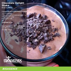 Hey Chocoholics! Check out this #WheyProtein Chocolate #Isagenix Shake Recipe. www.lizabronstein.isagenix.com