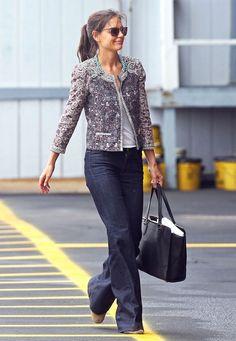 Mode : Katie Holmes est un véritable caméléon fashion ! Katie Holmes, Mode Outfits, Chic Outfits, Style Casual, My Style, Parka Outfit, Style Parisienne, Paris Mode, Outfit