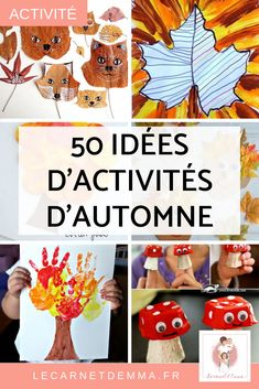50 ideas for manual activities on Autumn - 50 ideas of manual activities to do with children on the theme of autumn. Creative and DIY activity - Autumn Activities, Activities For Kids, Fall Crafts, Diy And Crafts, Diy For Kids, Crafts For Kids, Fall Inspiration, Montessori Activities, Working With Children