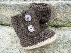 UGG Baby Boots Stylish Earth Tone Colors by cmiron on Etsy
