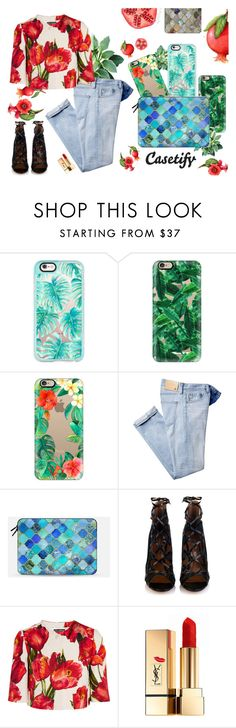 """Casetify"" by gabyidc ❤ liked on Polyvore featuring Casetify, Aquazzura, Dolce&Gabbana and Yves Saint Laurent"