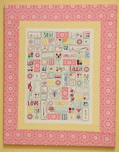 Beautiful combination of embroidery & simple quilting by Leanne Beasley. I'd love to own this!
