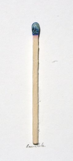 Istanbul view on a match stick by Hasan Kale