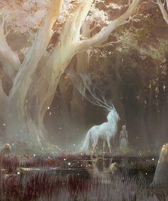 the feywild kunst art Fantasy Kunst, Mythical Creatures Art, Forest Creatures, Magical Creatures, Art Anime, Fantasy Inspiration, Fantasy Artwork, Fantasy Paintings, Amazing Art