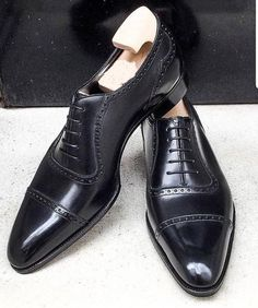aa0dd1cd Handmade Mens Oxford lace up formal shoes, Men black leather dress shoes