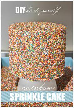 DIY Sprinkle Cake Tutorial  |  TheCakeBlog.com