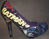 Decoupage Batman Heels. $70.00, via Etsy.