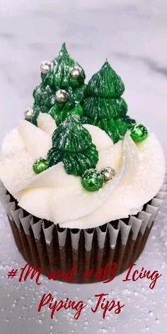Cake Decorating Frosting, Cake Decorating Videos, Cake Decorating Techniques, Cookie Decorating, Cupcake Recipes, Cupcake Cakes, Dessert Recipes, Christmas Snacks, Christmas Cooking