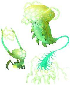 Alien Creatures from WildStar