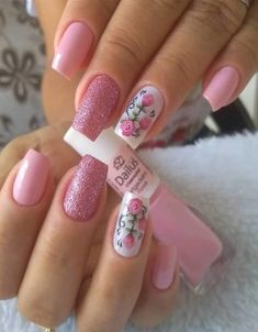 Mesmerizing Pink Nail Designs to Copy In 2020 Gel Uv Nails, Pink Manicure, Best Acrylic Nails, Pink Nails, Pink Nail Designs, Beautiful Nail Designs, Acrylic Nail Designs, Cute Nail Art, Cute Nails