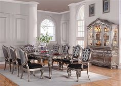 Formal Traditional Vendome Gold Patina 9 Pc Dining Room Set Amazing Formal Dining Room Collections Decorating Design
