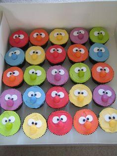 cupcakes for kids | Monster cupcakes - Blue Orange Bakery