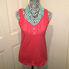 Reddish Orange Tank Top Brand new with tags! You could dress this shirt up or down! Originally from Nordstrom. Tops Tank Tops