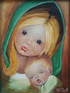 Autore: Teo Pinnetti Dipinto con colori ad olio - Maria con il bambin Gesù