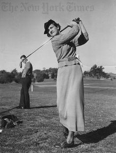 Club Chicas de golf folla