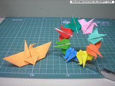 O QUE É MEU É NOSSO: Origami - Guirlanda de Tsurus (Cranes Wreath) - Ma...
