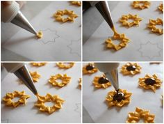 How to Make Royal Icing Sunflowers via sweetsugarbelle.com ~~ instructions + link to printable template