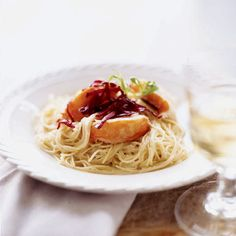 Lobster Capellini with Leek-Tarragon Cream Sauce- 16 Delicious Recipes for Romantic Dinner Seafood Pasta Recipes, Lobster Recipes, Seafood Dishes, Pasta Dishes, Pasta Sauces, Dinner Dishes, Fish Dishes, Cream Sauce Pasta, Cream Sauce Recipes