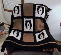 Blanket Crochet Elder Scrolls Oblivion Quilt.  Here's where that potholder went!  Very nice!