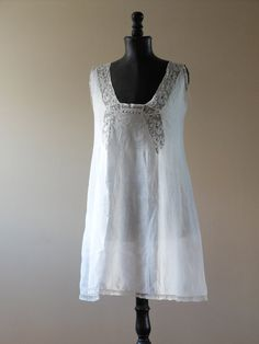cb746135c0 Antique French sheer lawn and lace chemise by FrenchModeVintique Vintage  Outfits
