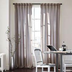 Luxe Window Panel – Zinc #WestElm- darker grey in person, living room