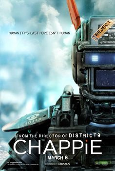 Directed by Neill Blomkamp.  With Sharlto Copley, Dev Patel, Hugh Jackman, Sigourney Weaver. In the near future, crime is patrolled by a mechanized police force. When one police droid, Chappie, is stolen and given new programming, he becomes the first robot with the ability to think and feel for himself.