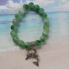 A personal favorite from my Etsy shop https://www.etsy.com/listing/285864571/salt-life-celtic-dolphin-beaded-stretch