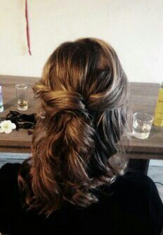 Half up twisted hair