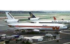 DC10-10  N915WA at Gatwick in 1980