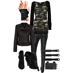 A fashion look from December 2012 featuring American Vintage tops, Oasis jackets and Balmain pants. Browse and shop related looks.