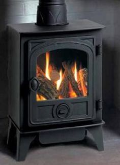 Hunter Gas Stoves | Buy 3.7KW Hawk 4D Conventional Gas Stove Log Effect Online | UK Stoves