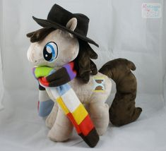The artist who made this is so incredibly talented!     4th Doctor Pony Plushie by *LiLMoon on deviantART
