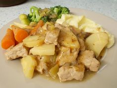 Jenny Eatwell's Rhubarb & Ginger: Diced pork with parsnips & celery in cider (oven version)