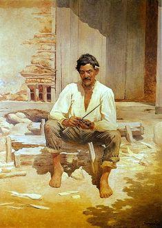 Caipira picando fumo 1893 Almeida Junior