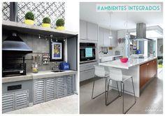 4 itens Concreto e alumínio na cozinha tipo industrial