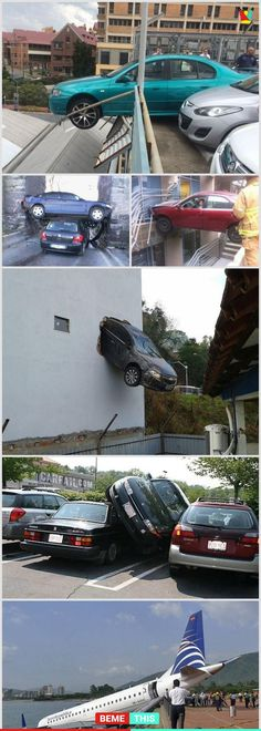 10+ of The Most Ridiculous Parking Fails #epicfail #photos #funnypictures #humour #parking #fails