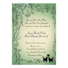 Wedding invitation of the garden cat